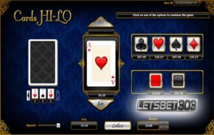 Coba Main Game Cards Hi-Lo Sbobet